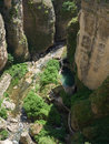 Ronda andalucia spain may view of the gorge at ronda anda on Royalty Free Stock Images