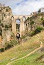 Ronda Bridge in Andalucia Royalty Free Stock Photo