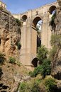 Ronda bridge andalusia spain a view of the ponte nuevo a over the canyon in Stock Photo
