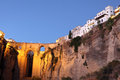 Ronda at dusk. Andalusia, Spain Stock Images