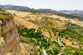 Ronda is famous for its dramatic views and for the deep el tajo gorge Royalty Free Stock Photos