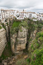 Ronda ravine the village of sitting on the andalusia spain Royalty Free Stock Images