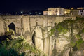 Ronda spain the bridge and the old city of at night malaga andalusia Royalty Free Stock Photography