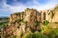 Ronda, Spain at Puento Nuevo Bridge Royalty Free Stock Photo