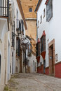 Ronda street a typical in andalucia spain Stock Images