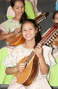 Rondalla band member picture of a girl of Royalty Free Stock Photography