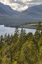 Rondane National Park. Green forest and lake river landscape. No Royalty Free Stock Photo