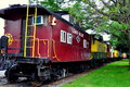 Ronks pa red caboose motel railroad car pennsylvania vintage cabooses from the nation s former railroads now serve as lodgings at Royalty Free Stock Photo