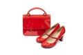 Rood wijfje bag&shoes-6 Royalty-vrije Stock Foto's