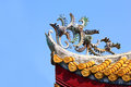 Roof Architecture of Buddhist Temple 02 Royalty Free Stock Photo
