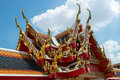 Roof Architecture, Wat Pho, Thailand Travel Royalty Free Stock Photo