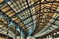 Roof of Brighton railway station Royalty Free Stock Photo