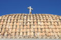 Roof of church of santo domingo in ibiza town spain Stock Photo