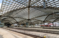 Roof of cologne main station germany north rhine westphalia Royalty Free Stock Images