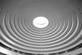 Roof of concentric circles in black and white Royalty Free Stock Image