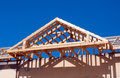 Roof construction against the blue sky Royalty Free Stock Photo