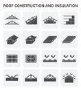 Roof construction icon