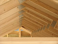 Roof Construction Wooden House Framework Royalty Free Stock Photo
