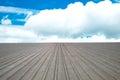 Roof corrugated aluminum  blue sky background Royalty Free Stock Photo
