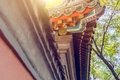 Roof Detail of historic building in China Royalty Free Stock Photo