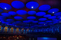 Roof detail a picture showing the inside of the royal albert hall in london and its hanging in the dome above Stock Photo