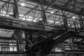 The roof of foundry factory steel structure frame Royalty Free Stock Photos
