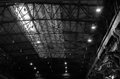 The roof of foundry factory steel structure frame Royalty Free Stock Image