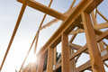 Roof frame of house Royalty Free Stock Photo