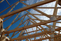 Roof frame rafters Royalty Free Stock Photo