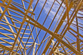 Roof Framing of New Home Construction Royalty Free Stock Photo