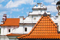 Roof and gable old mansion Royalty Free Stock Photo