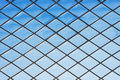 Roof glass modern windows metal grid blue sky pattern Royalty Free Stock Photo
