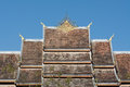 Roof of haw pha bang in luang prabang world heritage laos Stock Image
