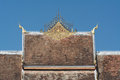 Roof of haw pha bang in luang prabang world heritage laos Royalty Free Stock Image