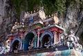 Roof of hindu temple, Batu caves, Kuala lumpur Royalty Free Stock Photo
