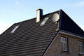 The roof of the house with nice window Royalty Free Stock Photo