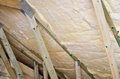 Roof insulation detail Stock Image