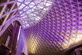 Roof in Kings Cross train station Royalty Free Stock Photo