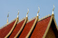 Roof lanna temple in northern thailand Royalty Free Stock Image
