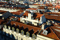 Roof of lisbon portugal tiled roofs at sunset Stock Photos