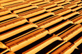Roof modern made with clay shingles italy Stock Images