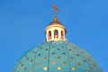 Roof of Orthodoxy church in Petersburg Stock Photography