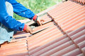 Roof repair Royalty Free Stock Photos