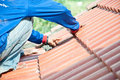 Roof repair Stock Image
