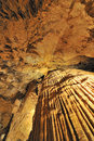 Roof of rocks inside luray caves Stock Images