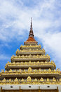 Roof and sky in the temple of thailand Royalty Free Stock Photography