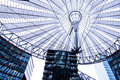 Roof of the Sony Center is located near the Berlin Potsdamer Platz railway station. Royalty Free Stock Photo
