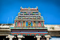 Roof of Sri Meenakshi hindu temple in Madurai Royalty Free Stock Photography