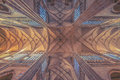 Roof of the St.Vitus Cathedral in Prague Royalty Free Stock Photo