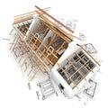 Střecha struktura